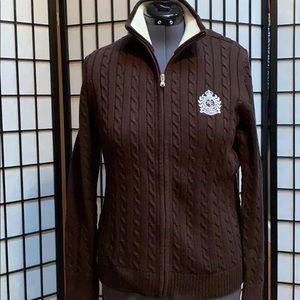 Ralph Lauren Full Zip Crest Cardigan XL